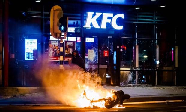 Burning KFC